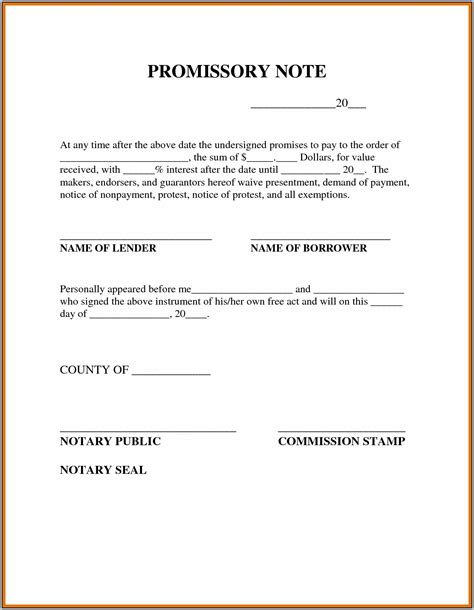 promissory note template canada promissory note sle canada template resume exles