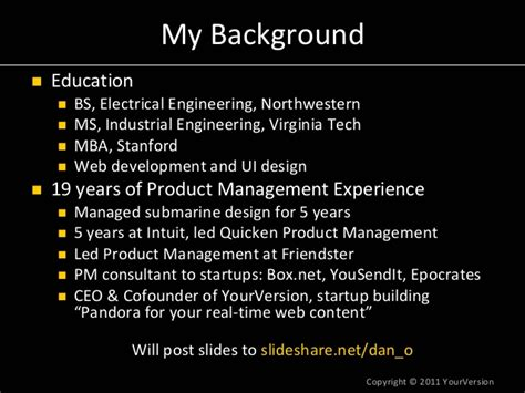 Ms Electrical Engineering Mba Stanford Requirements by From Product Zero To Product How To Build A Great