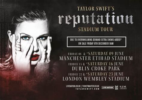 taylor swift extra uk dates taylor swift adds extra dates to her uk reputation 2018