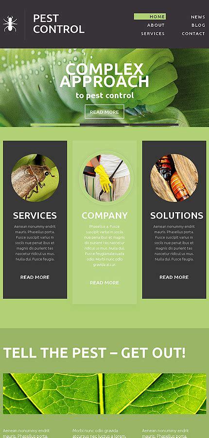 Pest Control Responsive Website Template 49152 Pest Website Templates Free