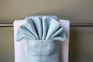 bathroom towel folding ideas how to hang bathroom towels decoratively with pictures ehow