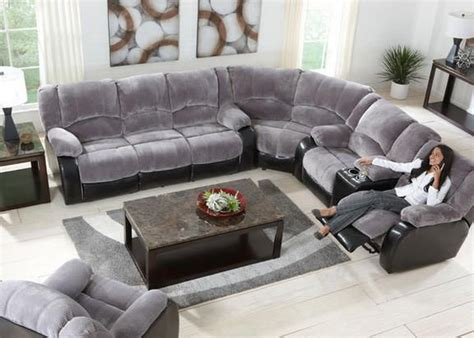 grey reclining sectional devon gray 3 pc sectional new furniture for the house