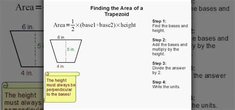 calculate area how to find the area of a trapezoid 171 math