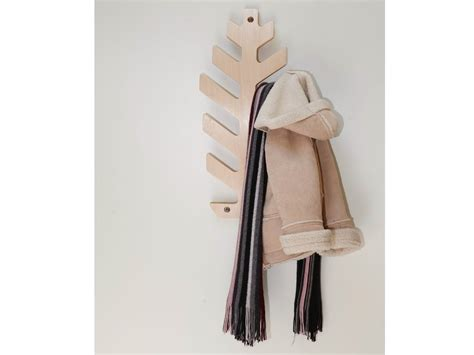 wall mounted birch coat rack for children kuusk by tarmeko