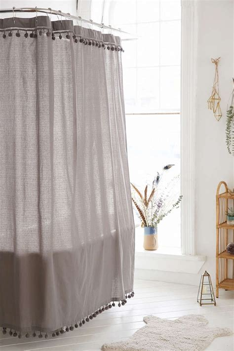 magical thinking curtains magical thinking pompom shower curtain urban outfitters