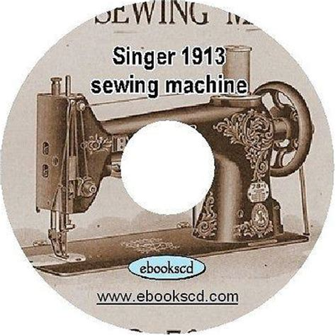 Cd V A Vocalist 1913 singer sewing machine no 78 1 guide manual book on c ebookscd