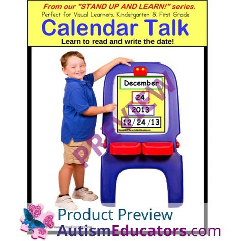 stand and learn activity calendar skills learn to read and write the date stand