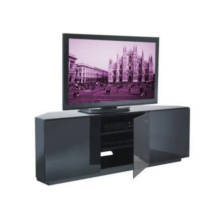 corner tv cabinet 55 inch ukcf milan gloss black corner tv cabinet up to 55 inch