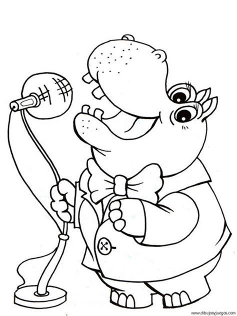 imagenes para colorear hipopotamo dibujo de hipopotamo 025 dibujos y juegos para pintar y