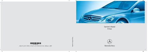 old car owners manuals 2007 mercedes benz r class security system 2007 mercedes benz r350 r500 r320 cdi r63 amg v251 owners manual