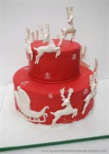 red and white christmas cake cake decorating community