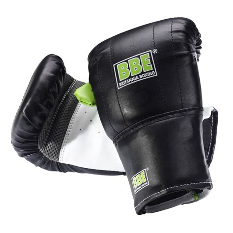 bbe 6oz punch bag mitts sweatband