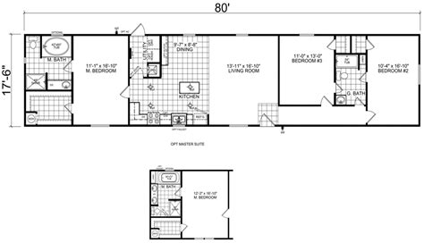 18 X 80 Mobile Home Floor Plans | 18 x 80 mobile home floor plans unique bixby 18 x 80 1400 sqft mobile home factory expo home