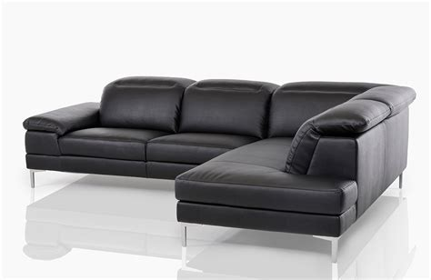 black leather modern sectional carnation modern black leather sectional sofa