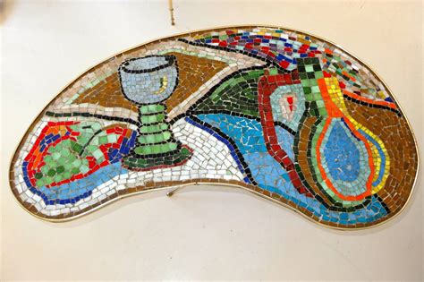 Mosaic L Base by 1950s Italian Mosaic Top Table On Cast Brass Base At 1stdibs
