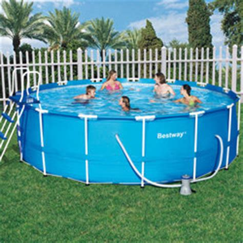 Piscine Tubulaire 1m22 3606 by Piscine Frame Pool Bleue 4 57 X 1 22m Ronde Bestway