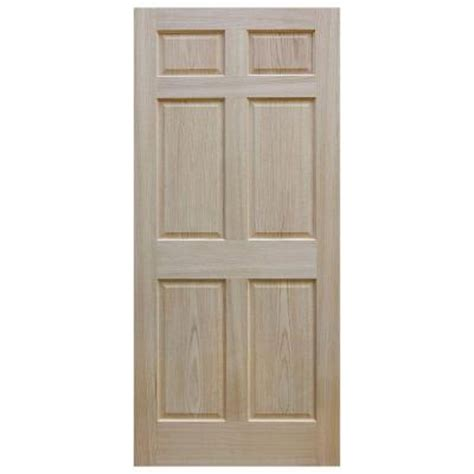 home depot solid wood interior doors evermark 28 in x 80 in 6 panel unfinished red oak wood