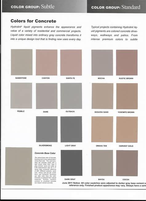 concrete color chart concrete color charts solid ground concrete inc buffalo ny