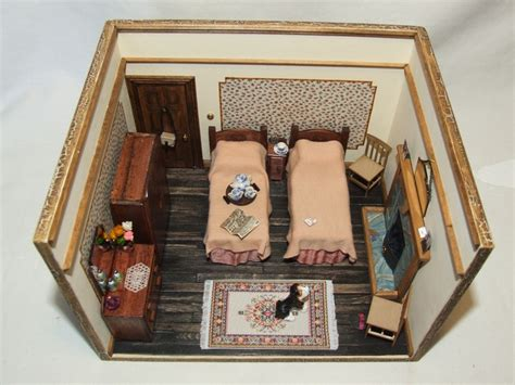 hobbycraft dolls house furniture make this miniature wartime bedroom in the 2013 version of