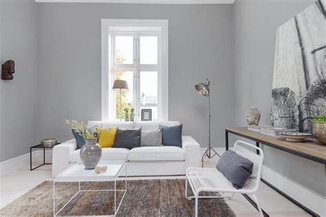 grey scandinavian interior inspiration grey and yellow as seen in