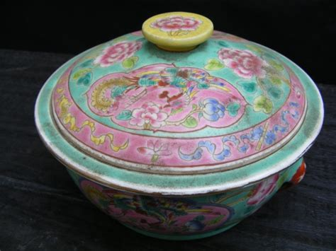 Sprei Green Borneo sale gt antiques gt 2 covered bowl jar box container