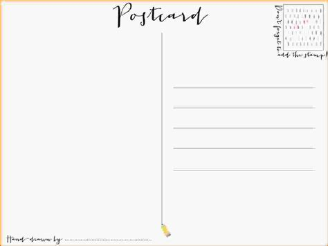 word postcard template