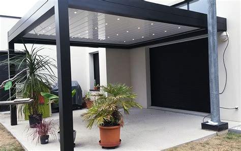 gazebo veranda pergola bioclimatique en alu cour gazebo pergola bbq