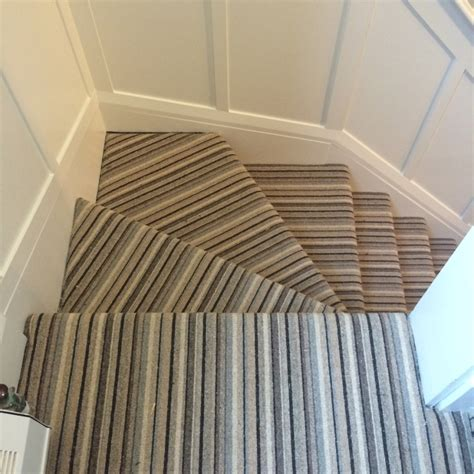 stair runner ideas stair awesome winder stair design with striped carpet