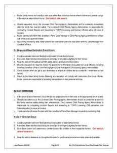 family safety plan template disaster emergency plan template for families
