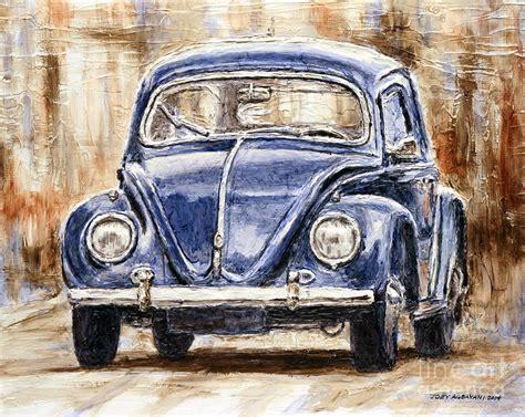 volkswagen painting 1960 volkswagen beetle painting by joey agbayani