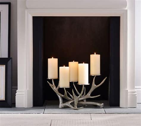 antler fireplace candelabra pottery barn