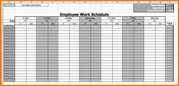 Employee Schedule Template by Work Schedule Template Free Employee Work Schedule