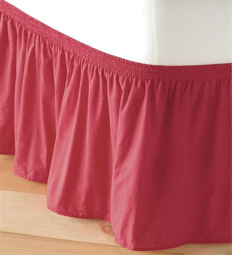 bed skirts adjustable elastic bed skirt collection accessories