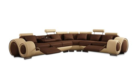 sectional sofas recliners modern leather sectional sofa with recliners