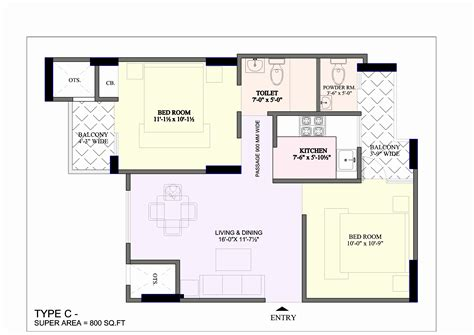 ideal layout of house 650 sq feet house plans
