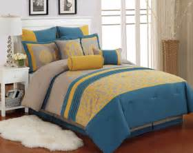 Modern Guys Bedroom Blue And Yellow Bedding Sets Home Furniture Design