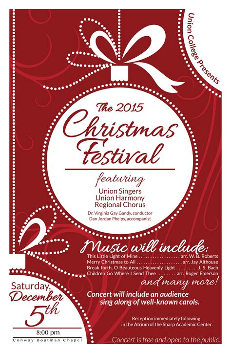 union presents annual christmas festival concert december
