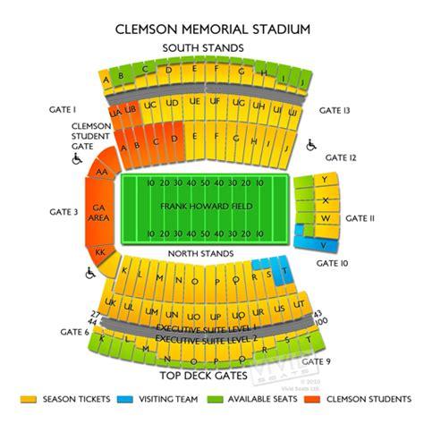 clemson seating chart valley clemson memorial stadium tickets clemson memorial