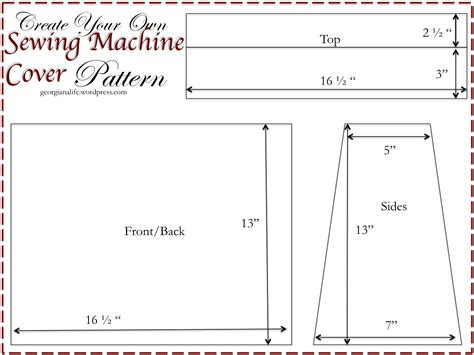 pattern for sewing machine cover custom made cover for your sewing machine georgiana in