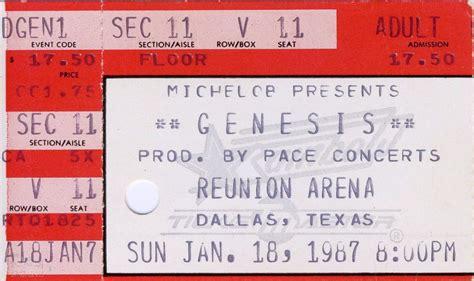 genesis tickets genesis ticket the reunion arena dallas 18th