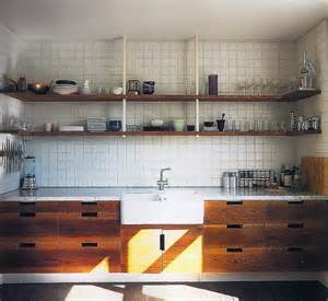 wood kitchen shelving open shelving in a warm wood kitchen 187 187 pretty dandy