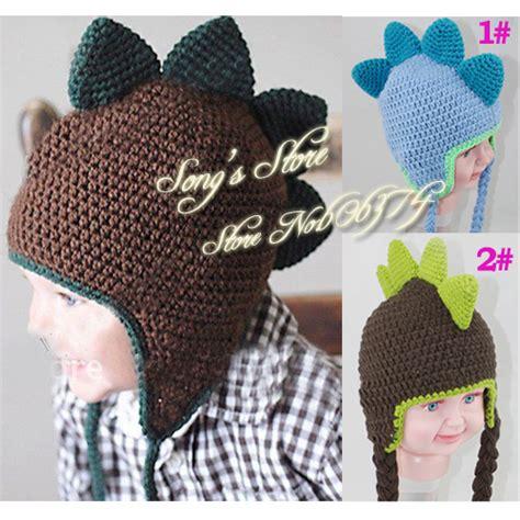 Handmade Dinosaur Crochet Hat Pattern - baby crochet hat handmade baby boy earflap dinosaur winter