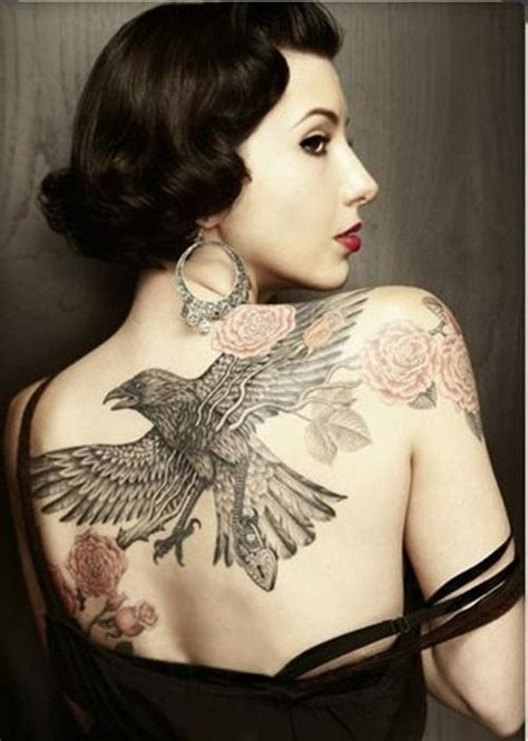 eagle tattoo ladies amazing back eagle tattoo for women body art pinterest
