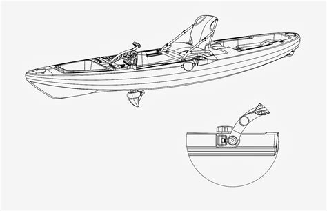 how to draw a kayak boat kayak drawing gallery
