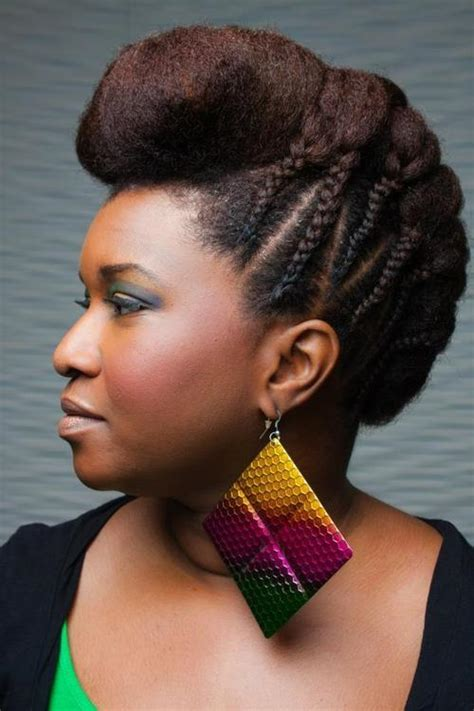 braided pompadour hairstyle pictures black natural hairstyles 20 cute natural hairstyles for