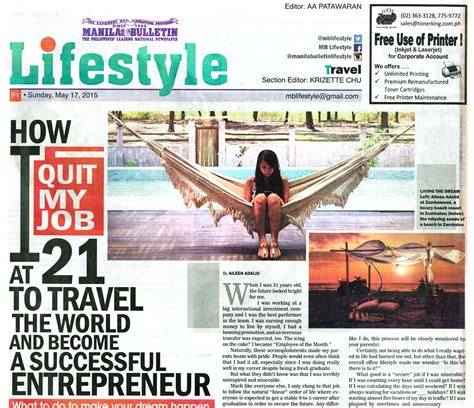 newspaper lifestyle section press iamaileen com