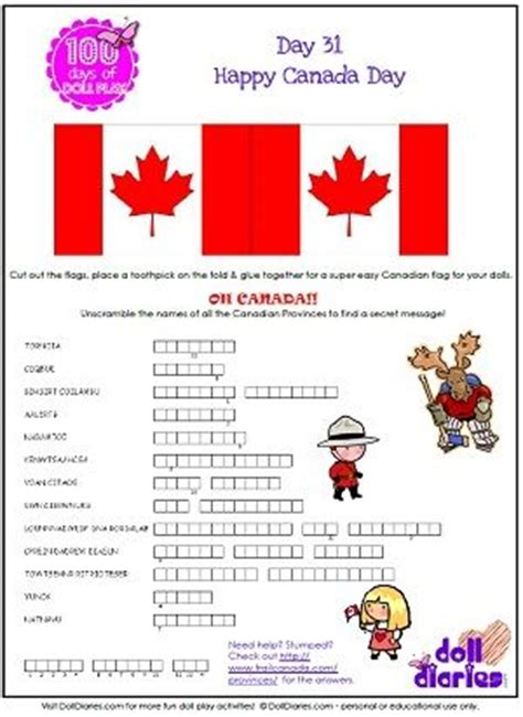 printable puzzle of canada 17 best images about doll diaries printables canada