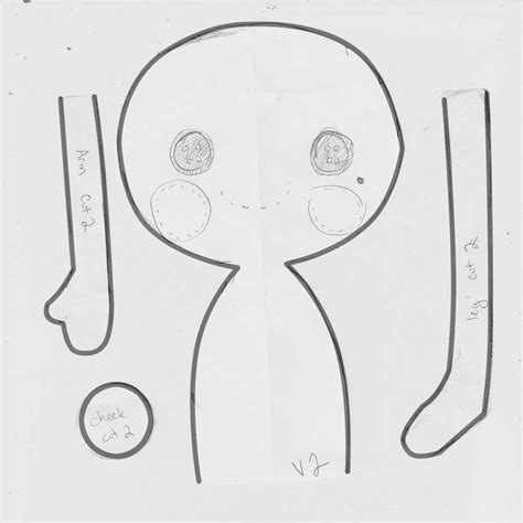 fabric doll template lalaloopsy style rag doll pattern by harleyquinne on