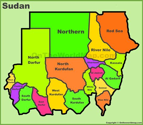 map of sudan administrative divisions map of sudan