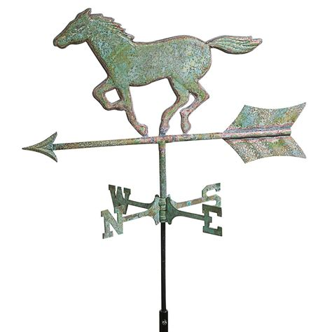 horse and sulky weathervane copper with directions mid to cottage good directions horse weathervane weathered